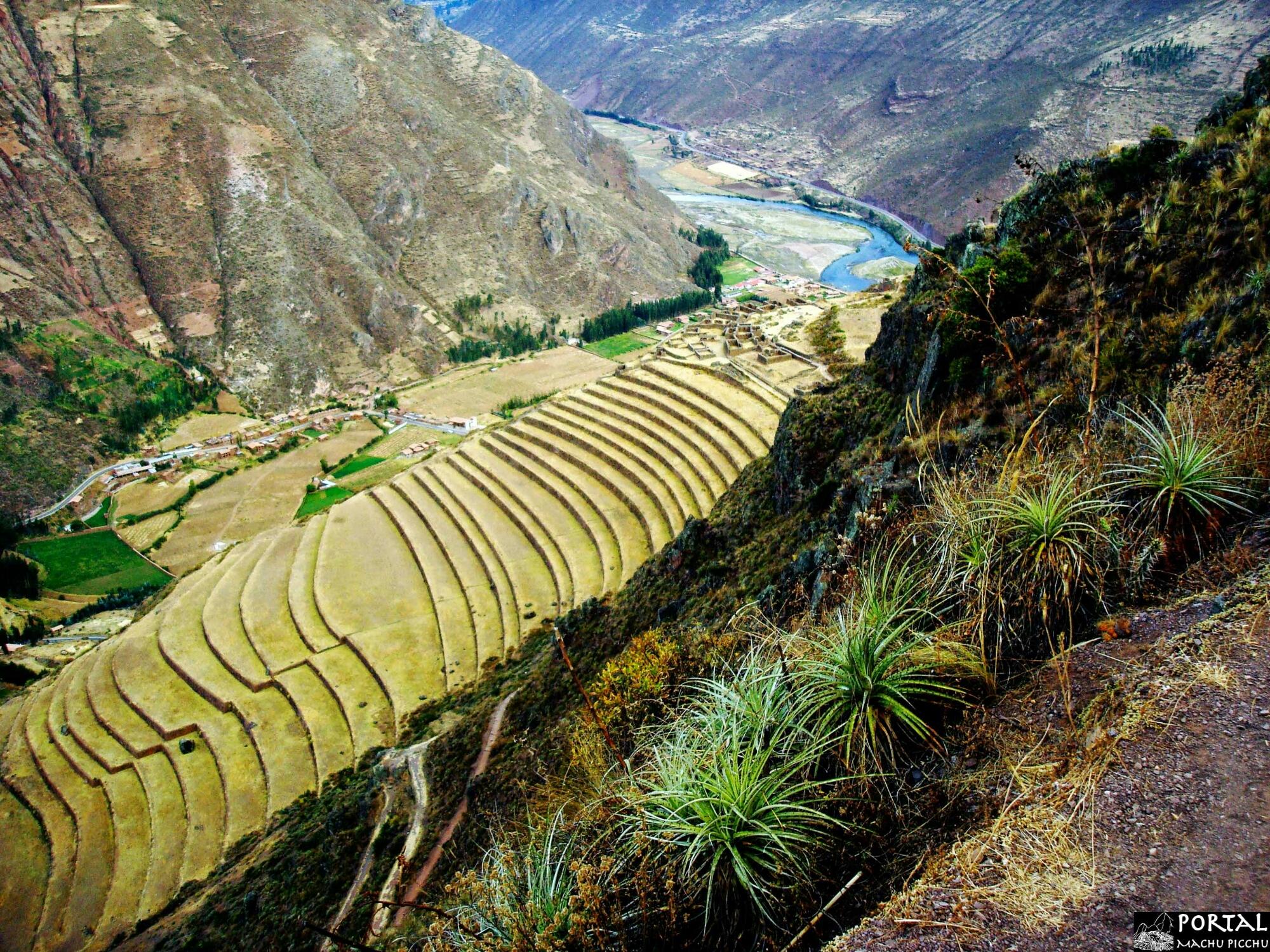 Pisac Cusco Peru Impresionante Vista De Las Terrazas De